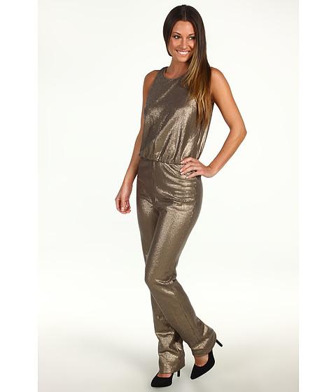 Pantaloni BCBGMAXAZRIA - Lowe Sequin Jumpsuit - Gold Combo