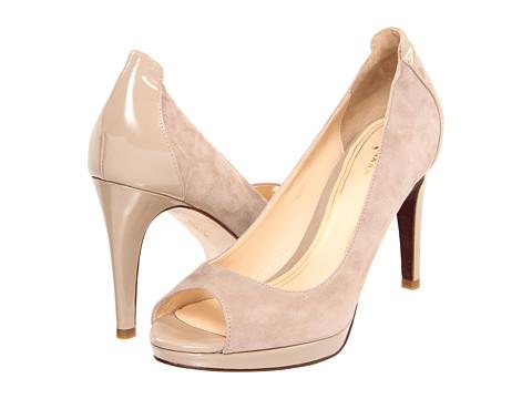 Pantofi Cole Haan - Chelsea OT Pump - Maple Sugar Suede/Patent