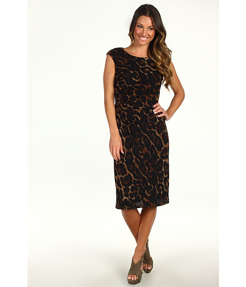 Rochii rsvp - Nadia Dress - Brown Animal Print