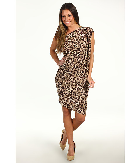Rochii Type Z - Quincy Dress - Brown/Black Cheetah