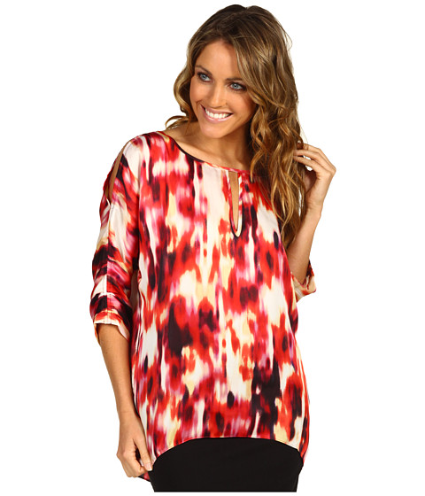 Bluze Kenneth Cole - Bright Sunset Print Tunic Top - Poppy Combo