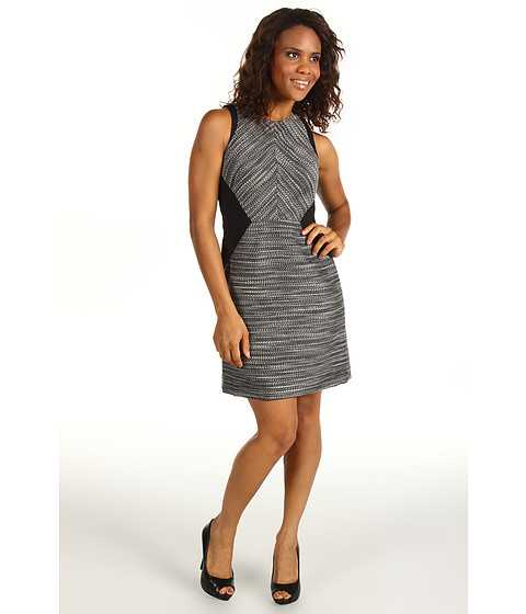 Rochii Kenneth Cole - Mixed Media Dress - Black Combo