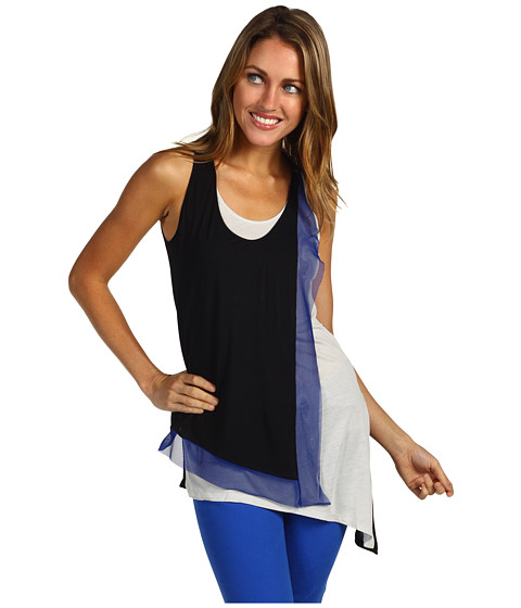 Bluze BCBGMAXAZRIA - Clyde Layered Front Tank - Black Combo