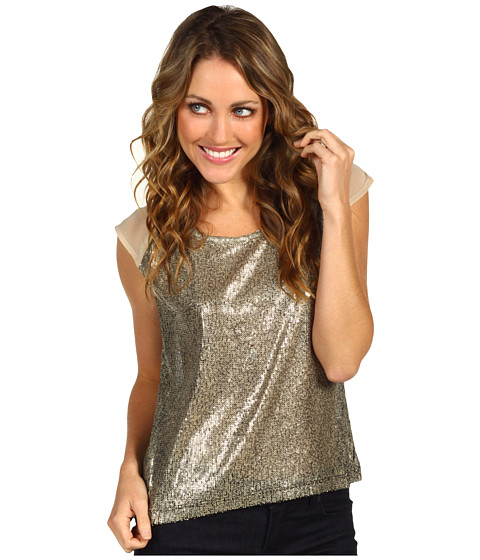 Bluze Brigitte Bailey - Valerie Sequin Top - Gold