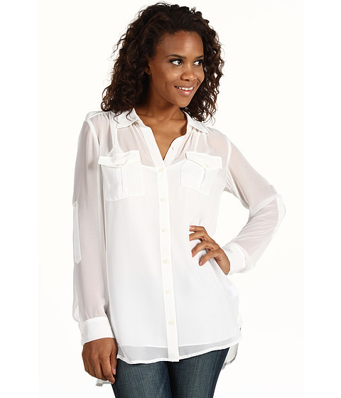 Bluze DKNY - L/S Button Thru Big Shirt - Ivory