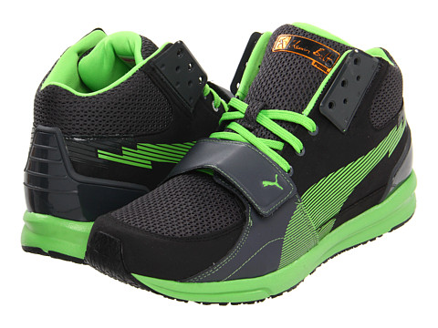 Adidasi PUMA - BOLT evoSPEED XT - Black/Dark Shadow/Fluro Green