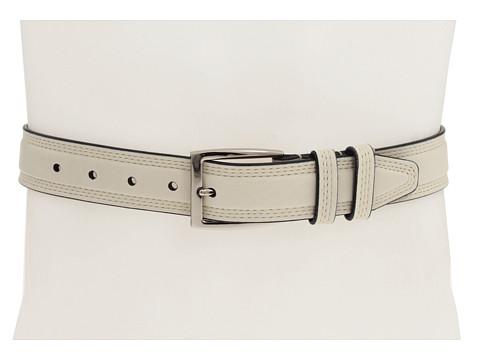 Curele Johnston & Murphy - Contrast Edge Belt - Cream