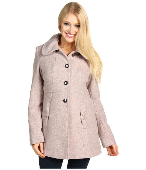 Jachete Jessica Simpson - Wool Tweed SB Button Front Babydoll Coat - Blush