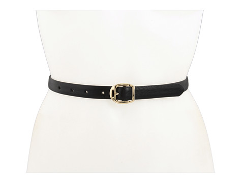 Curele LAUREN Ralph Lauren - Saffiano Belt with Martingale Buckle - Black