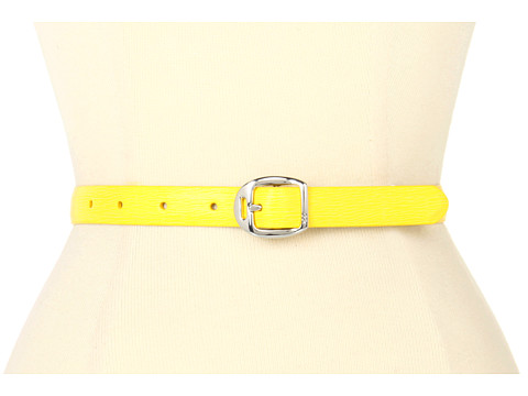 Curele LAUREN Ralph Lauren - Saffiano Belt with Martingale Buckle - Lemon Drop