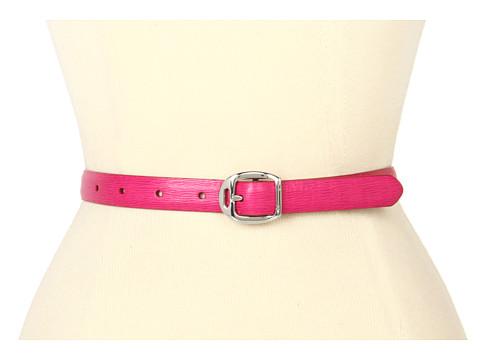 Curele LAUREN Ralph Lauren - Saffiano Belt with Martingale Buckle - Pink Sapphire