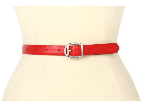 Curele LAUREN Ralph Lauren - Saffiano Belt with Martingale Buckle - Red