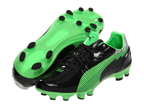 Adidasi PUMA - evoSPEED 3 FG - Black/Fluo Green