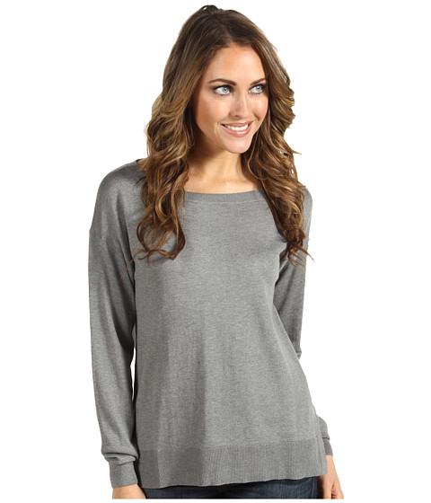 Bluze Lacoste - L/S Silk Cotton Boatneck Sweater - Mist Grey