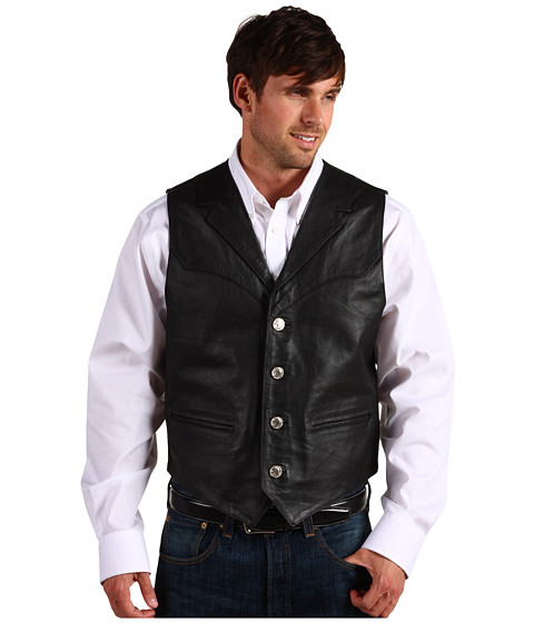 Jachete Roper - Nappa Notch Collar Vest - Black