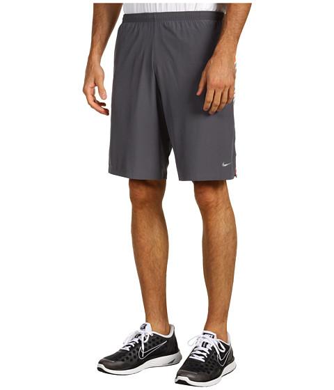 Pantaloni Scurti Nike - Nine-Inch SW Printed Running Short - Dark Grey/Total Orange/Reflective Silver