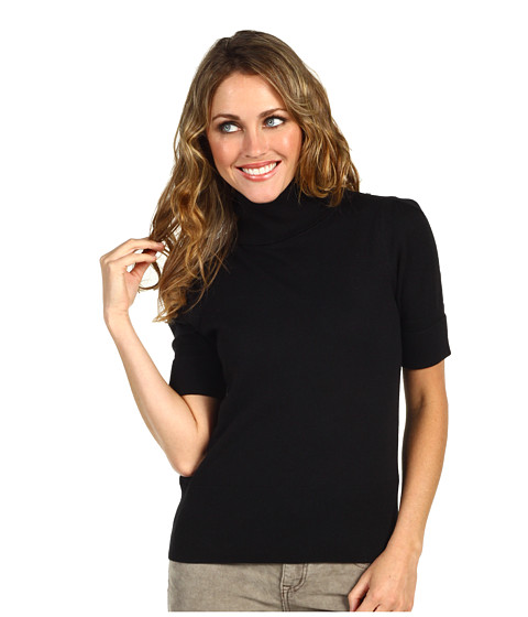 Pulovere Juicy Couture - S/S Turtleneck With Lace - Black