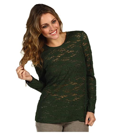 Bluze Juicy Couture - Cire Lace Top - Juniper Green