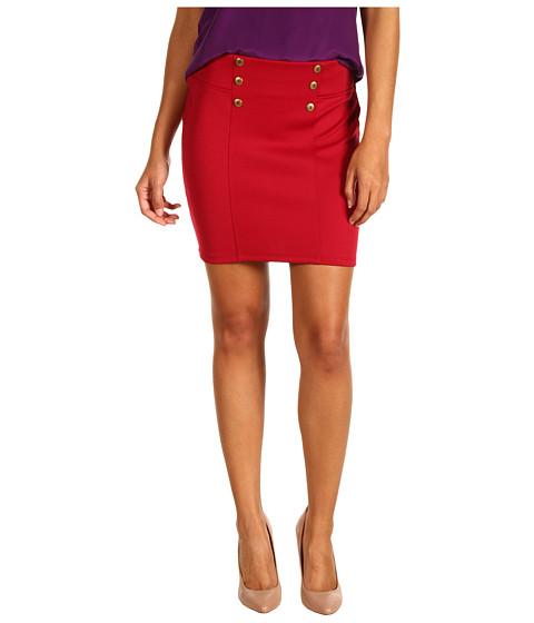 Pantaloni Gabriella Rocha - Sande Button Waist Skirt - Burgundy