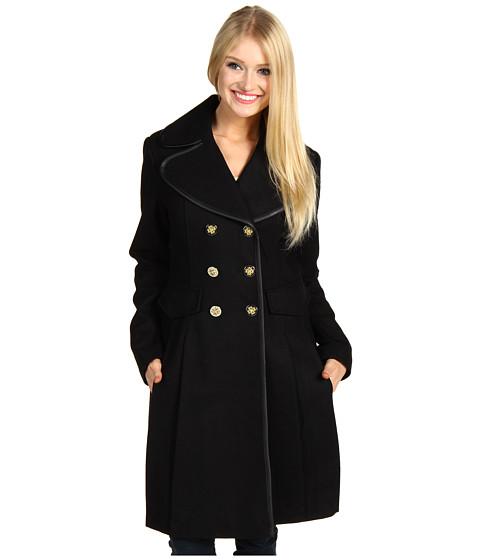 Jachete Jessica Simpson - Melton Wool Double Pleated Skirt w/Faux Binding - Black