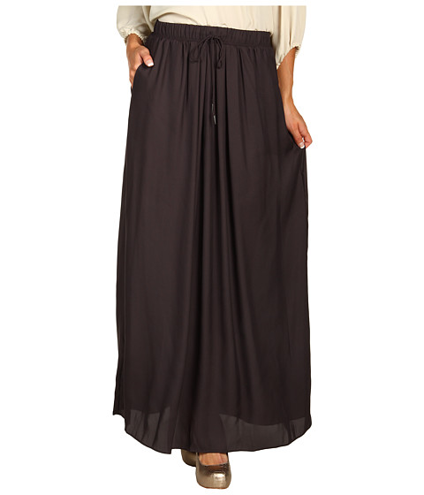 Pantaloni BCBGeneration - Drawstring Waist Maxi Skirt - Licorice