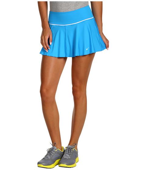 Fuste Nike - Flounce Knit Tennis Skirt - Blue Glow/White/White