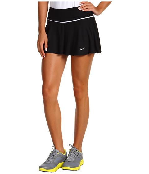 Fuste Nike - Flounce Knit Tennis Skirt - Black/White/White