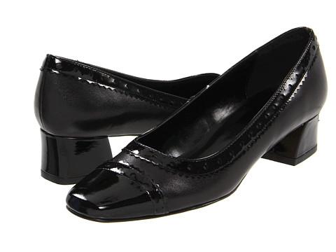 Pantofi Vaneli - Debra - Black Nappa/Black Smack Patent