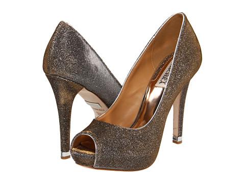 Pantofi Badgley Mischka - Humbie IV - Gold/Pewter Fabric