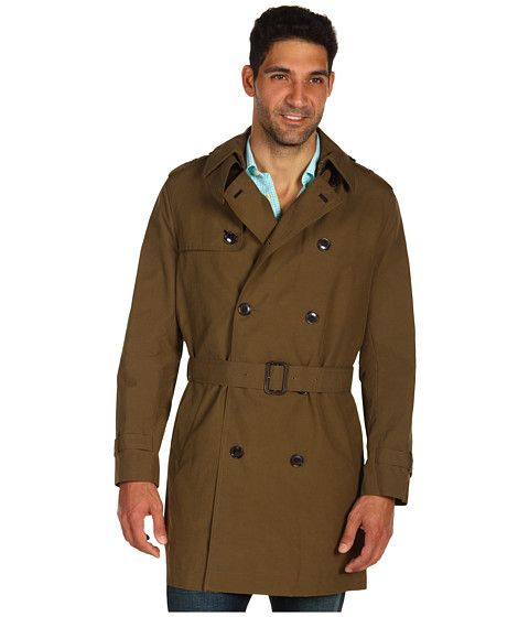 Jachete Cole Haan - Double-Breasted Waxed Cotton Trench - Khaki