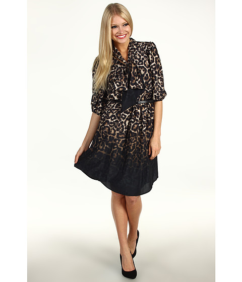 Rochii Vince Camuto - Ombre Animal Print Dress VC2P1636 - Animal