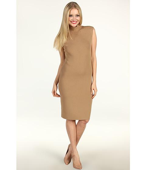 Rochii Calvin Klein - Mock Neck Dress - Camel