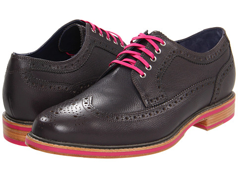 Pantofi Cole Haan - Cooper Square Wingtip - Charcoal Grain