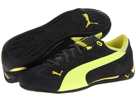 Adidasi PUMA - Fast Cat Suede Sparkle Wn\s - Dark Shadow/Fluo Yellow