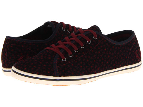 Adidasi Fred Perry - Phoenix Floral Print Corduroy - Navy/Port/Ivory