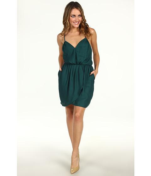 Rochii BCBGeneration - Pleat Front Crisscross Strap Dress - Aspen Green