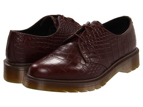 Pantofi Dr. Martens - 1461 3-Tie Croco - Cherry Red Croco