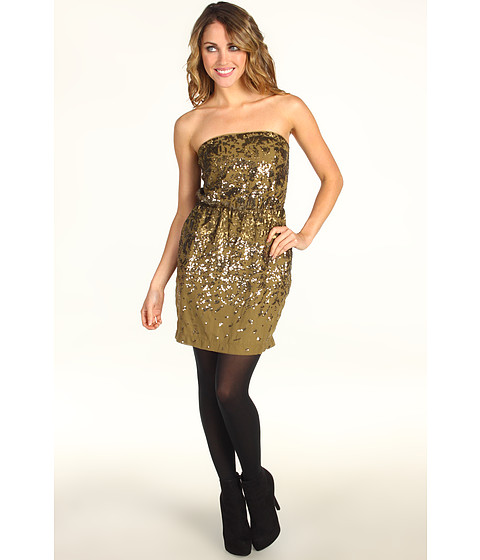 Rochii BCBGMAXAZRIA - Atalaya Sequin Strapless Dress - Bronze Combo