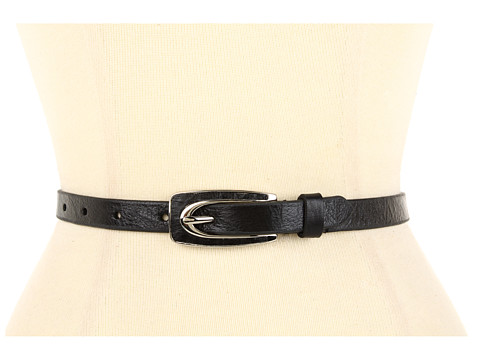 Curele Lodis Accessories - Abbot Kinney Skinny Leather Inset Pant Belt - Coal