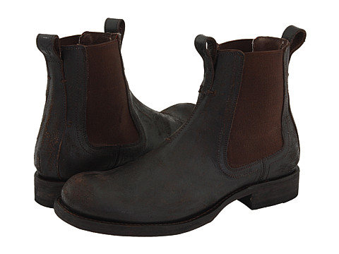 Ghete Frye - Fulton Chelsea - Dark Brown Distressed Leather