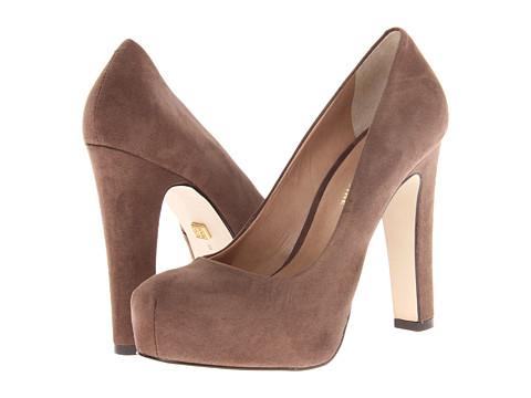 Pantofi Pour La Victoire - Erina Platform Pump - Chocolate Suede