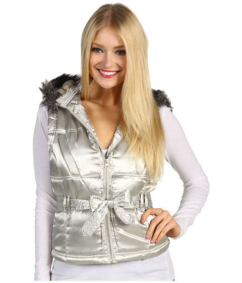Jachete Christin Michaels - Coriann Puffer Vest - Silver