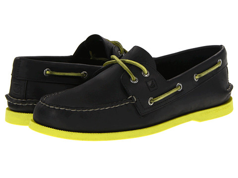 Pantofi Sperry Top-Sider - A/O 2-Eye Neon - Black/Neon Yellow