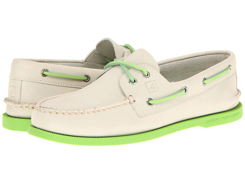 Pantofi Sperry Top-Sider - A/O 2-Eye Neon - Off White/Neon Green