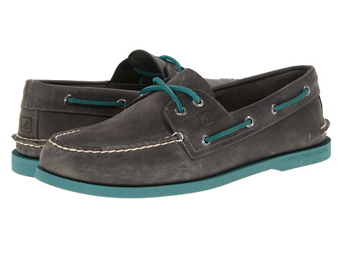 Pantofi Sperry Top-Sider - A/O 2-Eye Neon - Gray/Turqoise
