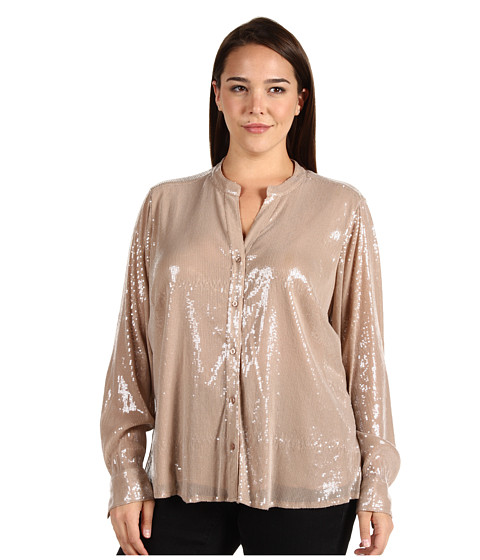 Tricouri Calvin Klein - Plus Size Sequin Blouse - Blush