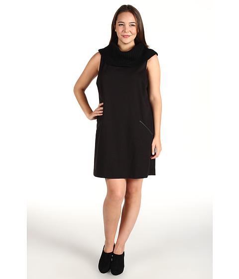 Rochii Calvin Klein - Plus Size Rib Neck Shift Dress - Black