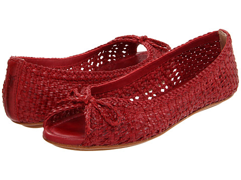 Balerini Frye - Malorie Woven Peep - Red Veg Tan