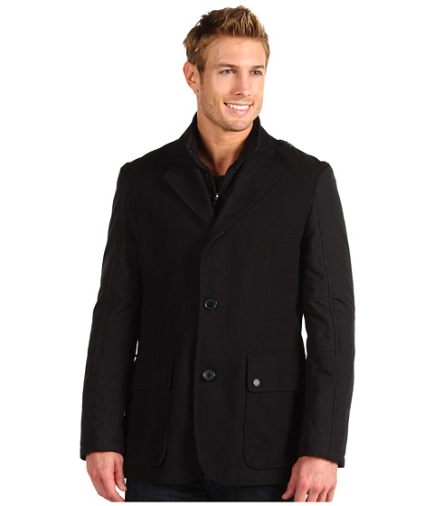 Jachete Cole Haan - Mixed Media Moleskin Blazer - Black