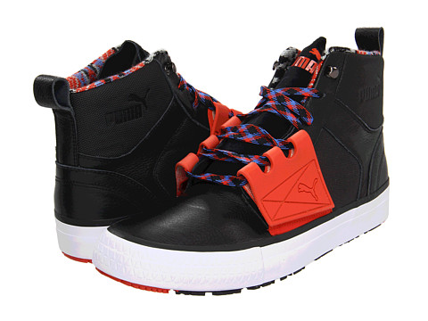 Ghete PUMA - El Ace Boot - Black/Red Clay